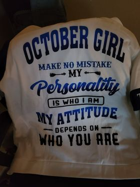 Personalized Name October Girl 3D All Over Printed Clothes HUMA010410 photo review